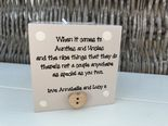 Personalised Auntie Aunty Great Aunt & Uncle Any Name Candle Gift..